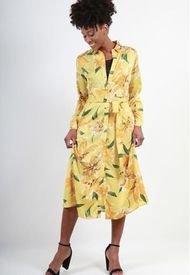 Vestido Camisero Estampado Amarillo Night Concept