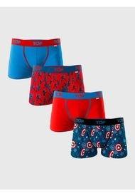 Boxer Medio Algodón Pack 4 Marvel Capitán América TOP