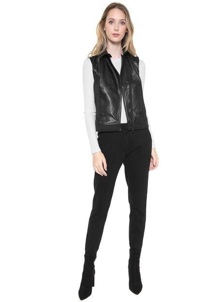 Calvin Klein Jeans Colete Calvin Klein Jeans Recortes Resinados Preto