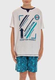 Pijama Jockey Niños Multicolor - Calce Regular