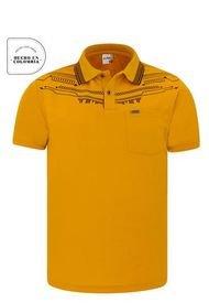Camiseta Tipo Polo Audax Con Bolsillo Mostaza