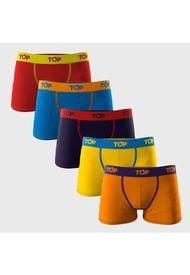 Pack 5 Boxer Medios Niños Multicolor TOP