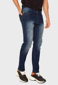 Jeans Ellus Básico Slim Azul - Calce Slim Fit