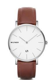 Reloj Hallfield Silver Brown MILLNER