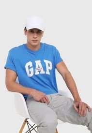 Camiseta Azul Royal-Blanco GAP