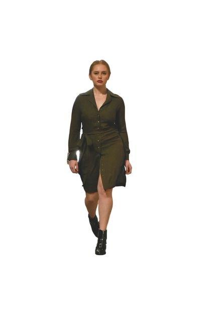 Polyanna Loureiro Vestido Polyanna Loureiro Margaret Verde Militar u6Qj3
