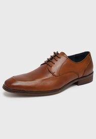 Zapato de Vestir Cuero Marrón Perry Ellis