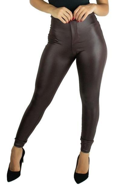 Calça Cirre Mvb Modas Disco Hot Pants Marrom - Marca Mvb Modas