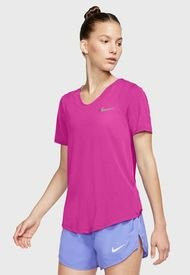 Nike W NK TOP SS BREATHE Fucsia