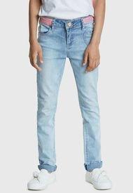 Pantalón Desigual Niña González Azul - Calce Ajustado