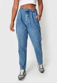 Jeans Missguided Highwaisted Oversized  Jean  Azul - Calce Regular