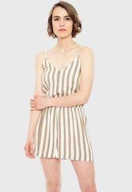 Vestido Only Earth Beige - Calce Regular