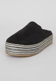 Plataforma Slip On Yute Negro - Mujer Corona