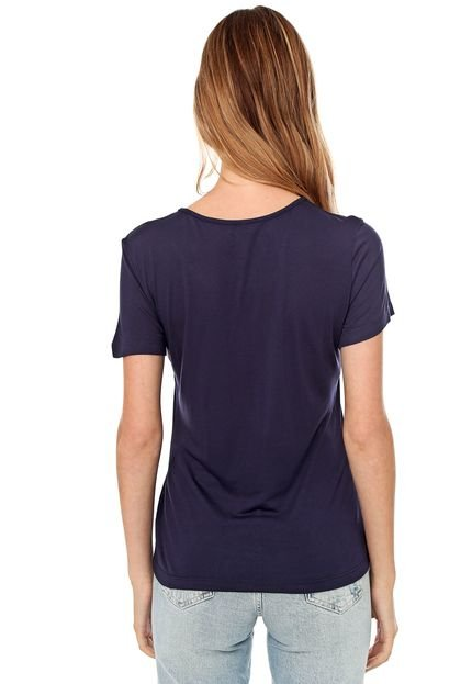 Colcci Camiseta Colcci Lettering Azul-marinho