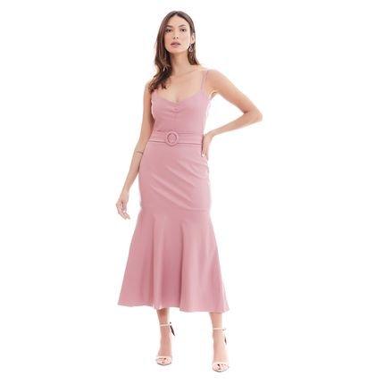 Mântua Vestido Midi Mantua Rose WUeMo