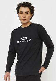 Polera Oakley M/L Negro - Calce Regular
