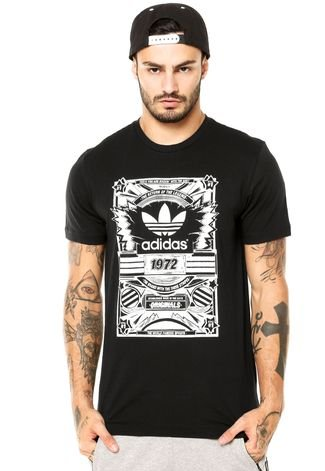Anterior Encadenar colgante  Camiseta adidas Originals Old School Bla Preta - Compre Agora | Dafiti  Brasil