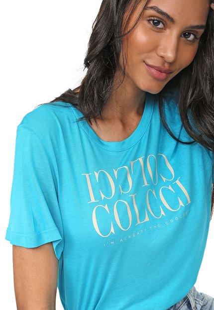 Colcci Camiseta Colcci Lettering Azul
