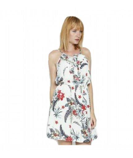 BON Vestido BON Floral Com Renda Vermelho Pnjcn