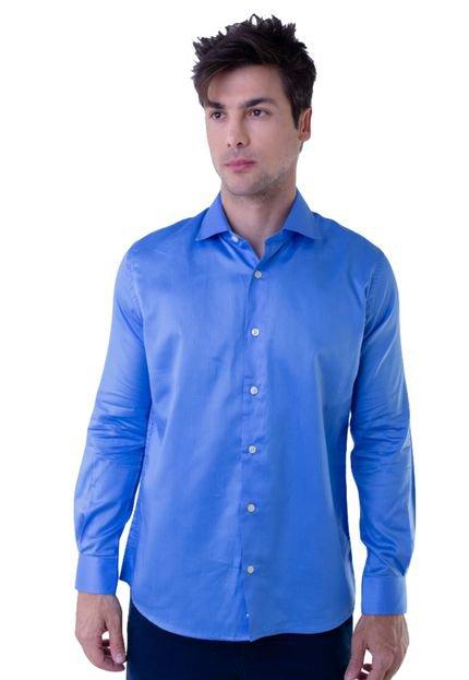 Camisa Lousã Fio 80 Azul Royal