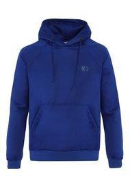 Buzo-Hoodie - Slim Fit - Logo Bordado Hombre Azul-Blanco Kuva - Elefante