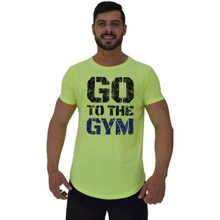 Camiseta Longline Alto Conceito Go To The Gym Amarelo Flúor