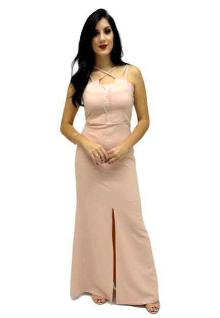 Energia Vestido Longo Energia Fashion Rosê yfn5z
