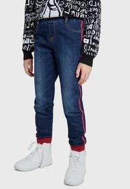Jeans Desigual Niña Denim Alvarez Azul - Calce Ajustado