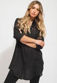 Blusa Desigual Negro - Calce Holgado