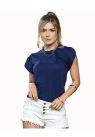 Camiseta Juvenil Femenino Azul Navy Atypical