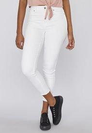 Jeans Color Básico Crop I Blanco  Mujer Corona