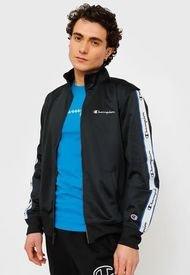 Chaqueta Champion Track Jacket Negro - Calce Regular