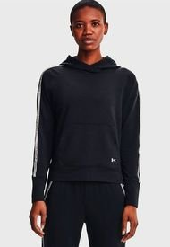 Polerón Under Armour UA Rival Terry Taped Hoodie Negro - Calce Regular