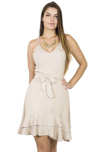 Dress Code Moda Vestido Dress Code Moda Babado Off White JYJsf