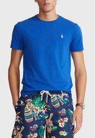 Polera Custom Slim Fit Crewneck Azul Polo Ralph Lauren