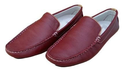 Navit Shoes Mocassim Navit Shoes Driver Vermelho 20Md2
