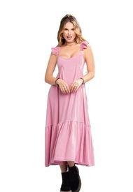 Vestido Juvenil Femenino Palo De Rosa Oscuro Atypical