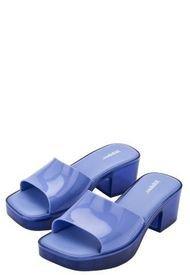 Sandalia Taco Shape Casual Azul Melissa