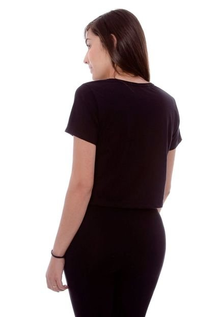 Ecko Camiseta Ecko Cropped Estampada Preta
