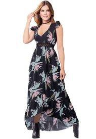 Vestido Para Mujer Estampado - Negro Atypical