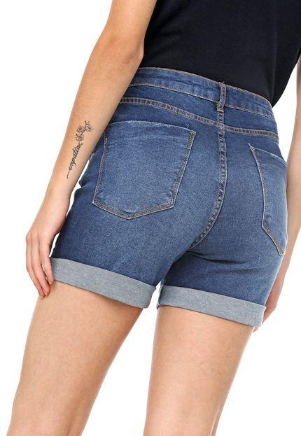 MOB Short Jeans MOB Estonado Azul