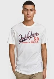 Polera Jack & Jones Blanco - Calce Regular