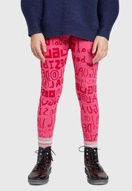 Legging Desigual Niña Monogram Rosa - Calce Ajustado