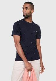 Camiseta Azul-Blanco Lacoste