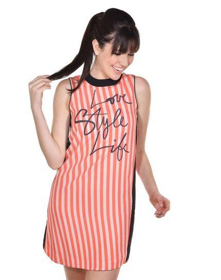 Banca Fashion  Vestido Banca Fashion Curto Casual Chique Vermelho TcraP