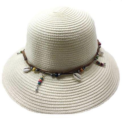 Chapéu de palha bege claro - Marca LOJA MAGNÓLIA