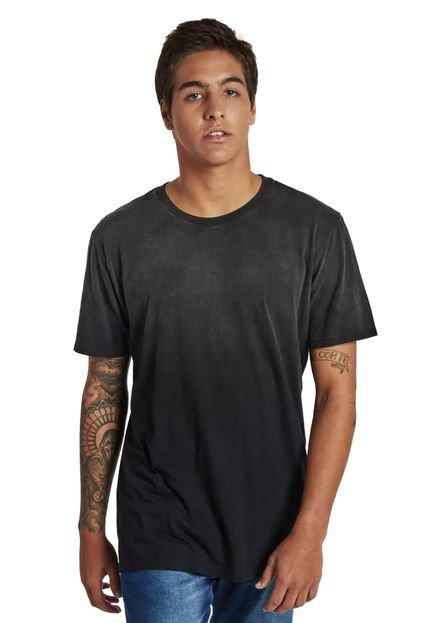 Camiseta Rulfini Store Cinza/Preto Degradê
