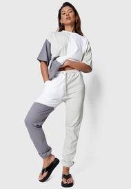 Conjunto  Missguided Coord Colourblock T-Shirt And Jogger Set Multicolor - Calce Regular