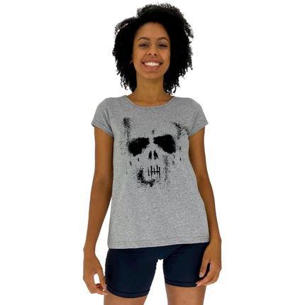 Alto Conceito Camisa Babylook Alto Conceito Ghost Skull Mescla rY7v3