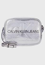 Cartera SCLPTD MONOGRAM CMRA BAG Plateado Calvin Klein